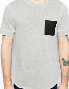 Custom Mens Cheap Pocket T Shirts pictures & photos