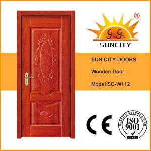 Flush Design Veneer Wood Painting Door, Interior Wood Door Sc-W110 pictures & photos