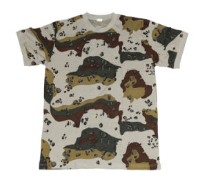 Camouflage T-Shirt 100% Cotton Military Printing Outdoor Wear pictures & photos