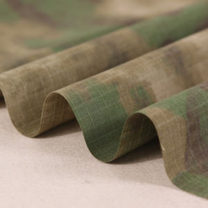 Wasteland Green Style Rip-Stop Military Camouflage Fabric pictures & photos