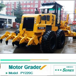 Hot Sale Py220c Motor Grader of Cummins 220HP