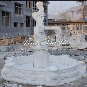 Top Quality White Carrara Sculpture Fountain for Garden Furniture Mf-612 pictures & photos