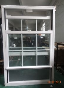 British Style Aluminum Doule Hung Window