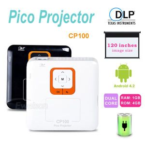 Smart Home DLP WiFi Pico Projector with Image Size up to 120 Inches (CP100)