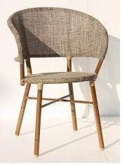 Outdoor Garden Bamboo Like Textilene Chair (BZ-CB041)