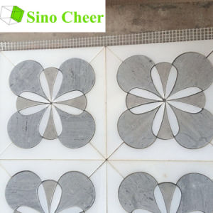 Yugoslavia White Mix Grey Marble Mosaic Jet Tile Pattern for Wall and Flooring pictures & photos