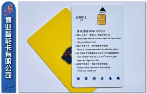 SGS Approved PVC Hotel Card with IC Chip pictures & photos