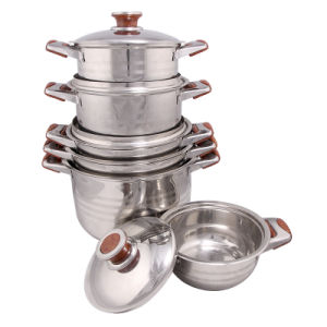 Hot Sale Stainless Steel Soup Pot Set pictures & photos