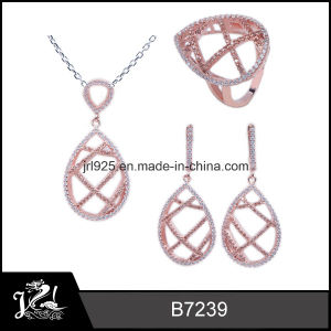 Wholesale Rose Gold Plated Fashion Silver Jewelry (B7239)