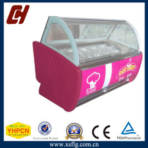 Gelato Ice Cream Showcase Display Freezer pictures & photos