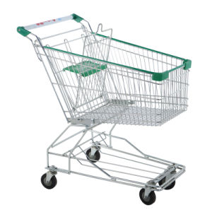Nice Capacity Supermarket Shopping Trolley with ISO and CE Standard From Suzhou Manufacturer pictures & photos