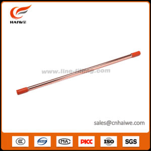 Copper Plated Threaded Ground Earthing Steel Rod with Lightning Production pictures & photos
