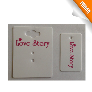 Milk White Earring PVC Hang Tag pictures & photos