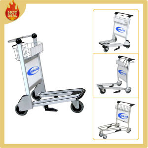 3 Casters Aluminum Alloy Airport Passenger Trolley with Basket (LG2) pictures & photos