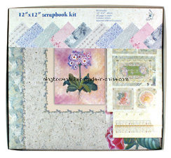 "12""X12"" Customized Paper Scrapbook Album Kit"