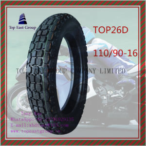 Tubeless 6pr Nylon Motorcycle Tyre with 110/90-16 pictures & photos