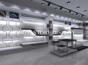 Men Shoes Store Fixture with Display Table and Wall Stand, Shoes Shop Decoration pictures & photos