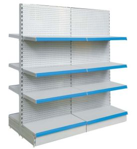 Double-Side Pegboard Supermarket Shelf pictures & photos
