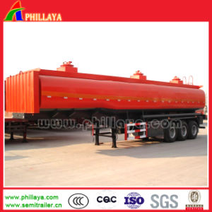 3 Axles 45000liters Truck Fuel Oil Chemical Tanker Semi Trailer pictures & photos