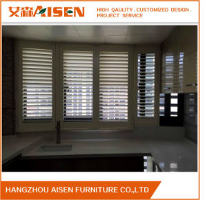 Light Control Home Furniture White PVC Plantation Shutters pictures & photos