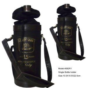 Faux Suede Single Bottle Wine Bag (4582R3) pictures & photos