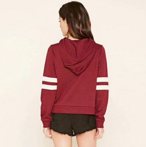 High Quality OEM Bulk Cotton Printing Casual Women′s Hoodie with Hat pictures & photos