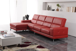 Modern Chaise Longue Leather Sofa pictures & photos