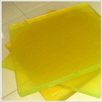 Light Yellow Polyurethane Sheet, PU Sheet White 30MPa, 80 - 90shore a pictures & photos