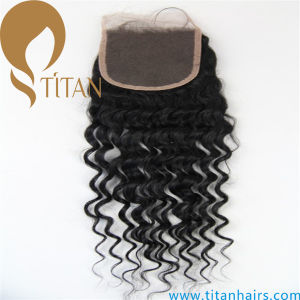 Brazilian Human Hair Curly Top Lace Closure