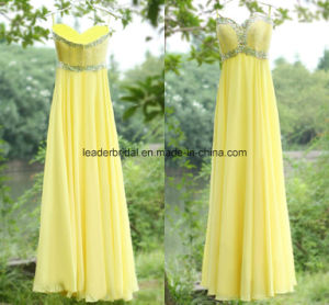 Spaghetti Party Fashion Gowns A-Line Yellow Bridesmaid Dresses Z5086 pictures & photos