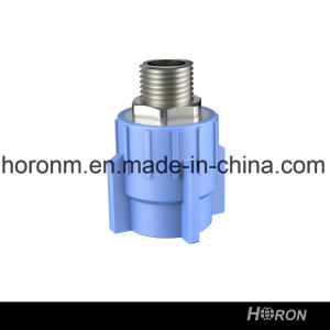 Water Pipe-PPR Fitting-PPR Copper Thread Coupling-Blue PPR Male Thread Coupling-Thread Coupling-Male Coupling