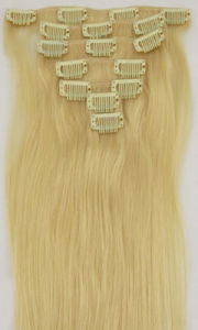 Charming Blonde European Human Hair Clip on Extension