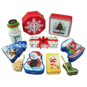 Christmas Festival Metal Tin Box (DL-CT-0012)