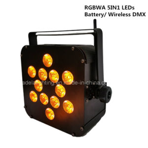 12X10W RGBWA 5in1 LED Battery Wireless PAR Spot Light Wedding Party pictures & photos