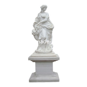 White Marble Stone Figure Statue Carving for Garden pictures & photos