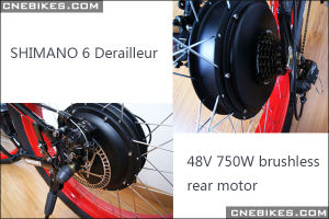 48V 750W Brushless Hi-Speed Rear Motor Fat Ebike pictures & photos