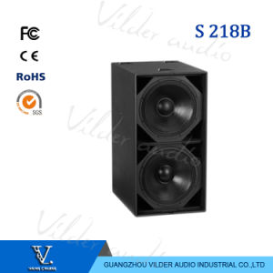 S218+ Hot Sale Double 18 Inch Professional Subwoofer Speaker pictures & photos
