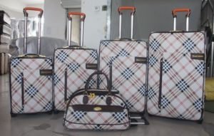 PU Leather Aluminium Trolley System Luggage Bag006 pictures & photos