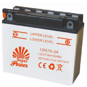 Dry Charged Motorcycle Battery 12N7-3A with CE UL certificate pictures & photos