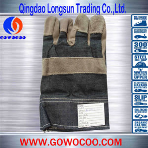 Cow Split Leather Safety Work Gloves (GW-907)