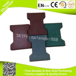 Rubber Paver with High Environmental Protection Rubber Tiles for Horse of Dog Bone Shape pictures & photos