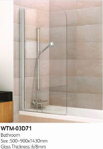 Top Shower Door on Bath Tub Wtm-03D71 pictures & photos