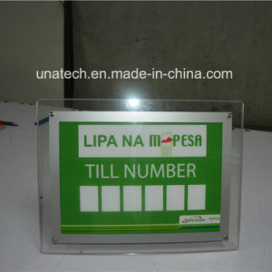 Indoor on Desk Crystal Acrylic Advertising LED Light Box pictures & photos