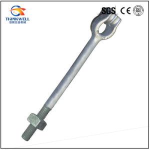 Hot DIP-Galvanized Twin Eye/Strand Screw Anchor Rod Bolt pictures & photos