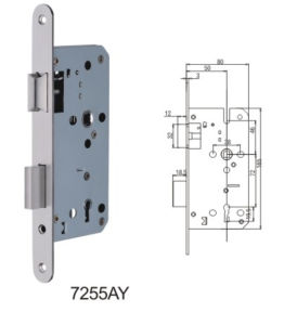 Stainless Steel Door Lock Body Mortise Lock (7255AY) pictures & photos