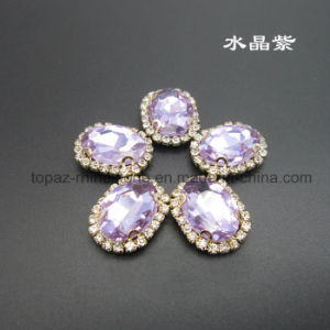 Factory Direct Sew on Rhinestone Claw Setting Crystals (SW-Oval navette 13*18) pictures & photos