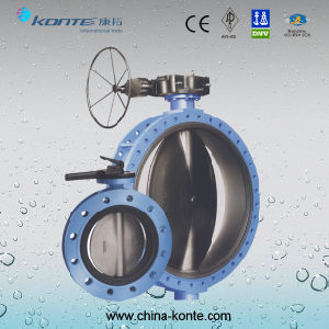 Hot Sale Manual Flange Butterfly Valve pictures & photos