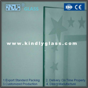 5mm Acid Etched Tempered Glass for Building pictures & photos