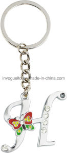 Fashion H Zinc Alloy Key Chain with Stones (MKC04A) pictures & photos