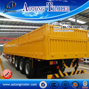 3 Axles 40feet Flatbed with Side Wall, Open Side Board Cargo Semi Trailer, Sidewall Semi Trailer, Wall Side Semi Trailer, Side Wall Open Semi Trailer for Sale pictures & photos